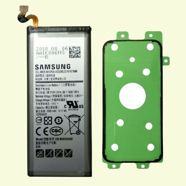 New Battery for Samsung Galaxy Note 8 EB-BN950ABE 3300mAh SM-N950A