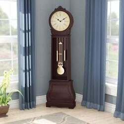 72 Floor Standing Grandfather Clock Wood Antique Vintage Chime Pendulum Large