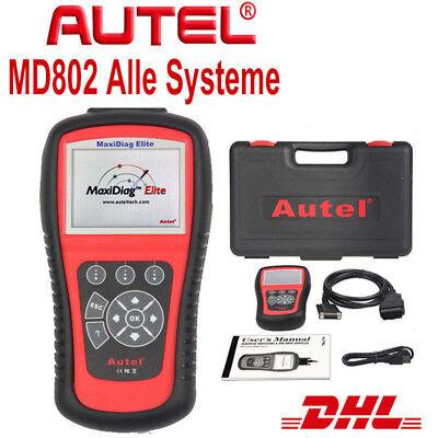 System-diagnose-gerät (Autel MaxiDiag Elite MD802 OBDII Vollständige System Diagnosegerät Öl EPB Reset)