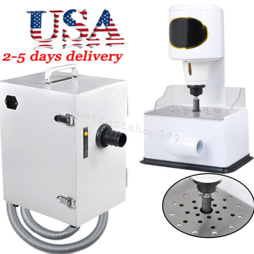 US-Denshine Dental Single-Row Dust Collector+Grind Inner Model Trimmer Trimming