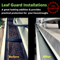 Protect your Eavestrough with Leaf Guard - We install it for you