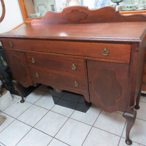 Solid Walnut Canadian-made Anthes Antique Buffet