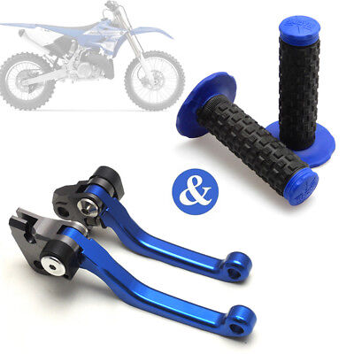 Brake Lever Grips - Pivot Brake Clutch Lever + Handle Grips for Yamaha YZ125 YZ250 KX125 250 450F
