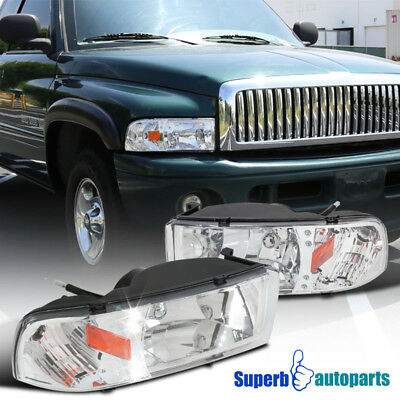 For 1994-2001 Dodge Ram 1500/2500/3500 LED Crystsl Headlights