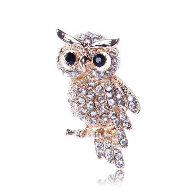 Rhinestone Crystal Exquisite Brooch Pin Owl Full of Travel Memorialize 1 PC (Owl Pin)