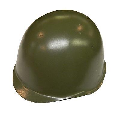 Steel Army Helmet Genuine Military Czech Russian Shape Helmet ~ Leather Lined
