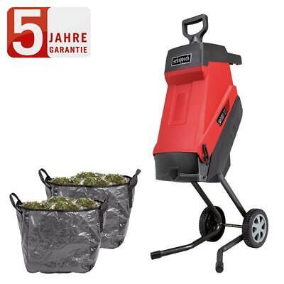 Scheppach 2IN1 Elektro Gartenhäcksler GS55 Häcksler Schredder 2400W 2 Fangsäcke