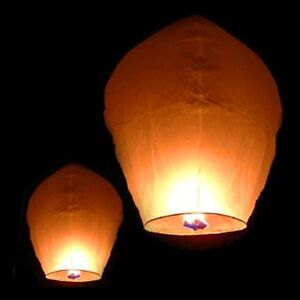 White Paper Chinese Lanterns Sky Fly Candle Lamp for Wish Party Prince George British Columbia image 3