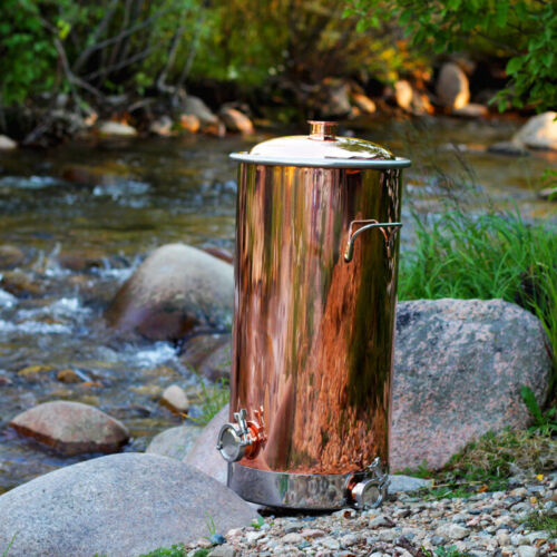 Copper Milk Can Distilling Pot and Boiler - 13 Gallon