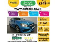 2017 BLUE MERCEDES A180D 1.5 AMG LINE EXECUTIVE DIESEL CAR FINANCE FR £241 PCM