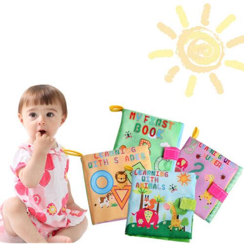 Soft Cloth Baby Book With Rustle Sound Musical Toy Newborn B