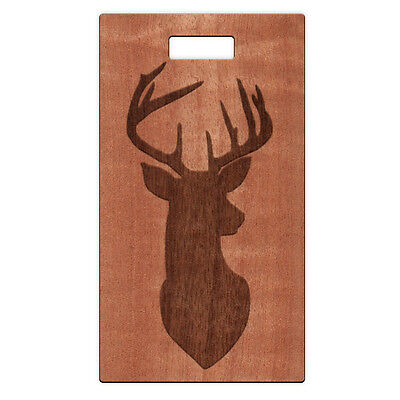 Rectangle Name Tags - Buck Hunters Wooden Rectangle Name Tag Custom Made with your Name & Address NEW!