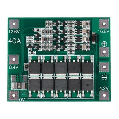 4s 16.8v 18650 Lithium Battery Charger Protection Board Pcb Bms Cell 40a Module