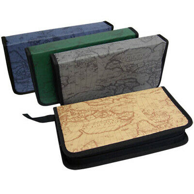 80 Sleeve Cd Dvd Blu Ray Disc Carry Bag Case Holder Wallet Storage Ring Binder