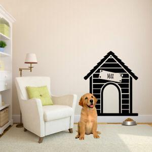 Customized Dog Name Dog House Wall Sticker - free shipping