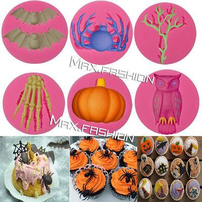 Silicone Halloween Fondant Mold Cake Chocolate Baking Mould Sugarcraft Decor - Fondant Halloween Cakes