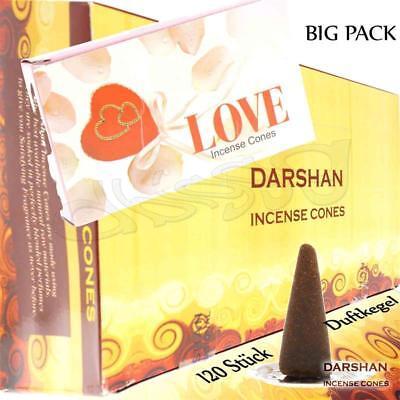 LOVE von Darshan Räucher-KEGEL BIG PACK 12x 10 KEGEL Räucherkerzen
