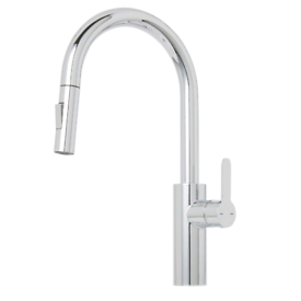 Cooke & Lewis Kareena Chrome effect Kitchen Side lever pull out Tap