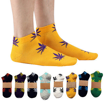 Unisex Herren Frauen Gesunde Marijuana Weed Maple Leaf Socken Short Knöchel