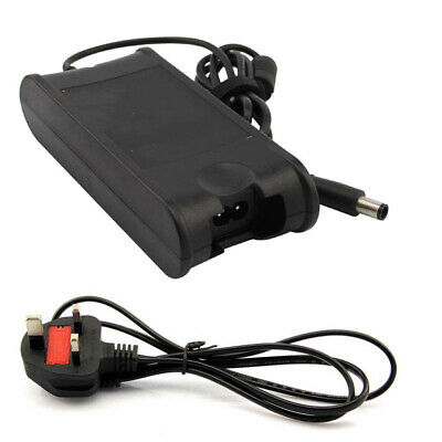 Laptop Charger DELL XPS INSPIRON LATITUDE 19.5V 4.62A 7.4mm x 5.0mm + UK plug