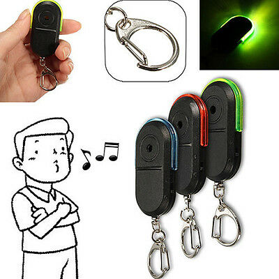 Alarm Locator Tracker Lost Keys Finder Whistle Sound Control LED Tracer Seeker