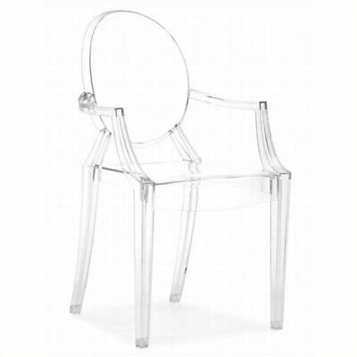 Brika Home Acrylic Chair in Transparent