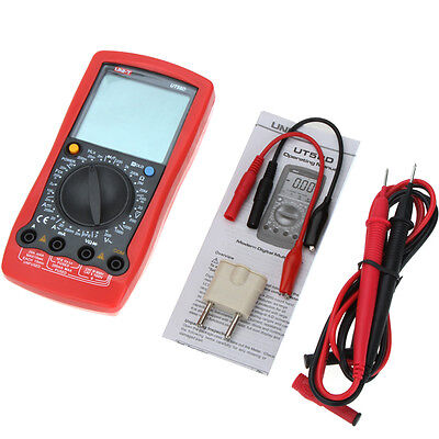 Uni-t Ut58d Modern Digital Multimeter Ac Dc Volt Amp Ohm Cap Inductance Tester