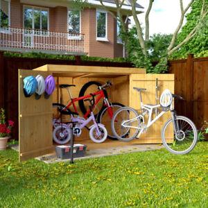 6x3 Overlap Wooden Pent Bike Storage Double Door Roof Felt Store Shed 6ftx3ft