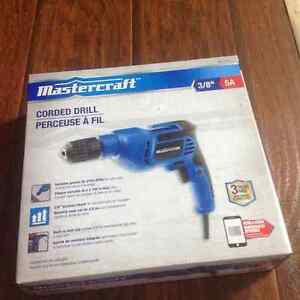 Mastercraft corded drill brand new in a box!