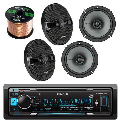 Kenwood KMMBT322U Car Bluetooth Receiver With 4 x Kicker 6.5