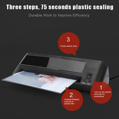Professional Thermal Hot Laminator Machine For Office A4 Documents Paper Black M
