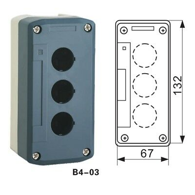 1PCS Push-button Control Box Fit for 22mm Mounting Round Switch Head 3 Location  Push-button Switch-box
