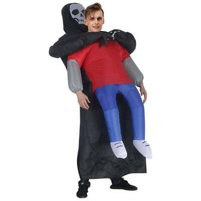 Adults Inflatable Grim Reaper Ghost Party Fancy Dress Costume Blow Up Halloween