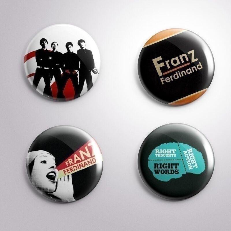 4 FRANZ FERDINAND - Pinbacks Badge Button Pin 25mm 1