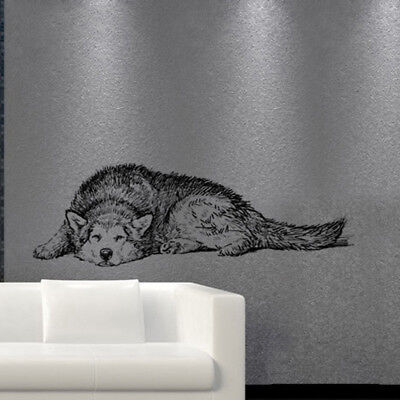 Husky Dog Wall Stickers Animal Wallpaper 3D Decal Mural Art For Kids Rooms