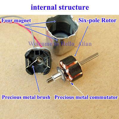 2PCS Minebea 15mm*15mm Mini Square Motor Large Torque 6-Pole Rotor DC12V 6500RPM