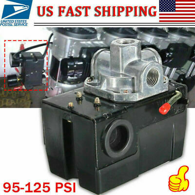Heavy Duty Pressure Switch For Air Compressor 95-125 Psi Four 4 Port 26a Usa