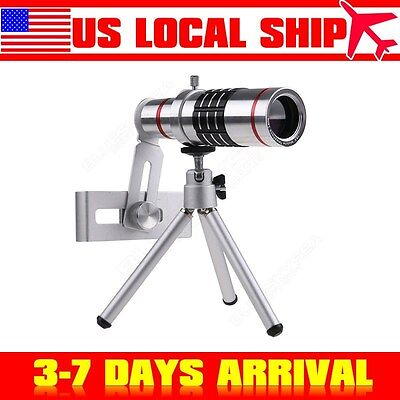 18x Optical Zoom Telescope Camera Lens Kit Tripod For Mobile Phone Iphone 6