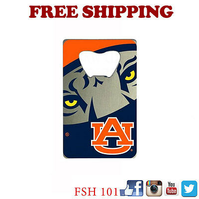 New NCAA Auburn Tigers Beer Soda Bottle Opener Credit Card Style Made In -