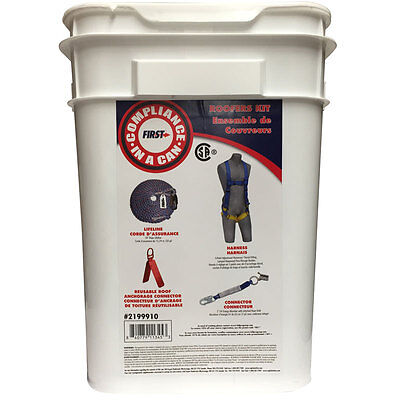 Fall Protection Roofers Kit Universal Safety Harness Csa And Ansi Approved
