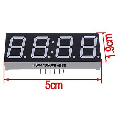 2pcs New 0.56 4 Digit Super Red Led Display Common Anode With Time Display