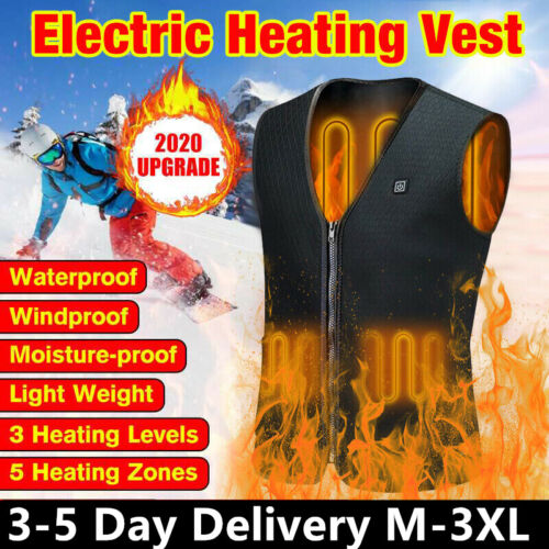winter heated vest usb charging electric thermal