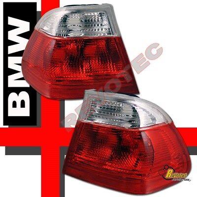99 00 01 BMW E46 4Dr Sedan Tail Lights Red Clear RH + LH 330i 325i 323i 328i 00 4dr Tail Lights