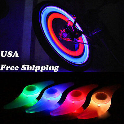 - Safe Colorful Bikes Bicycle Cycling Spoke Wire Tire Tyre Wheel LED Bright Light