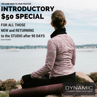 Unlimited Classes $50 for 30 Days