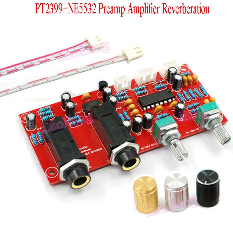Details about DC 9-24V PT2399+NE5532 Karaoke Microphone Preamp Amplifier  Reverberation Board