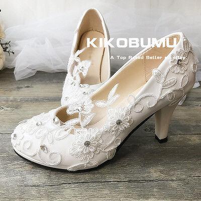 Lace Wedding Shoes Formal Bridal Bridemaid Flat High Low Kit