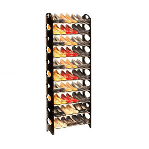 Stackable to 30 pair shoe rack..or 5 different shoe racks sizes