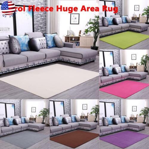 Soft Carol Fleece Rugs Shaggy Living Room Area Rug Carpet Fl