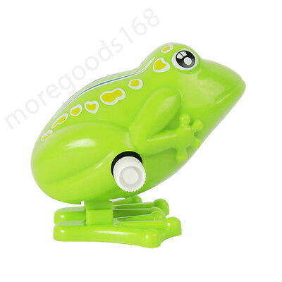 Funny Cute Wind-up Hopping Jumping Frog Clockwork Walking Toy Kids Children Gift
